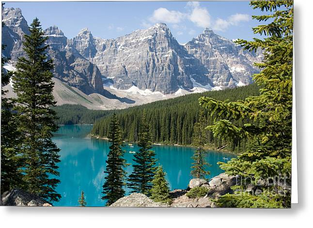 Greeting Card featuring the photograph Moraine Lake by Chris Scroggins