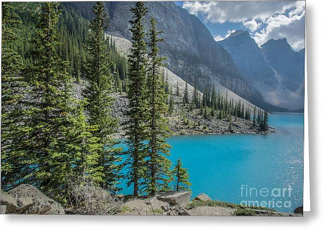 Moraine Lake Banff National Park Canada Greeting Card by Edward Fielding