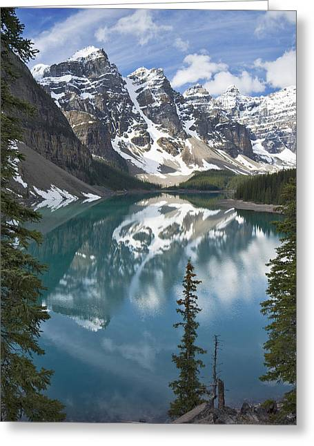 Moraine Lake Overlook Greeting Card