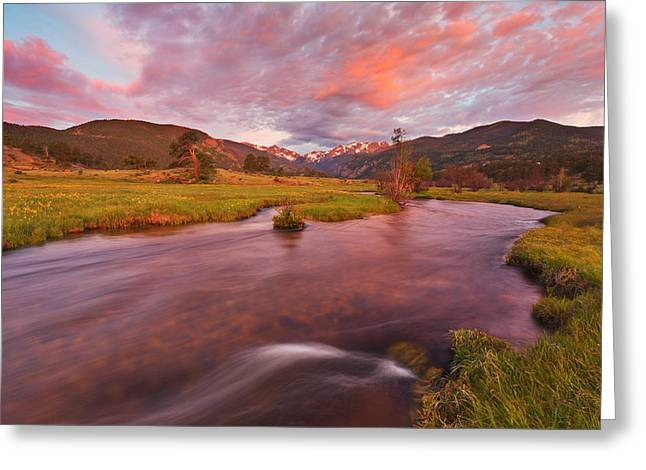 Moraine Sunrise Greeting Card by Darren  White