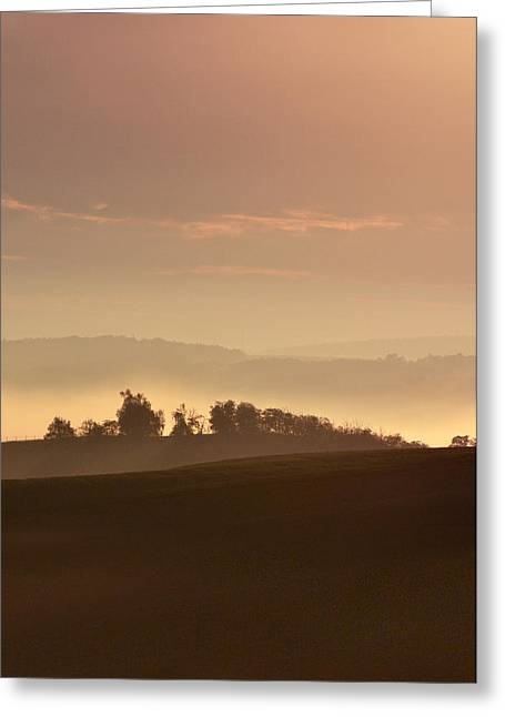 Moravia At Dawn Greeting Card by Jaroslaw Blaminsky