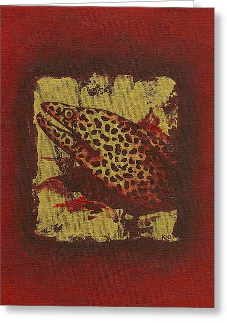 Moray Eel Greeting Card