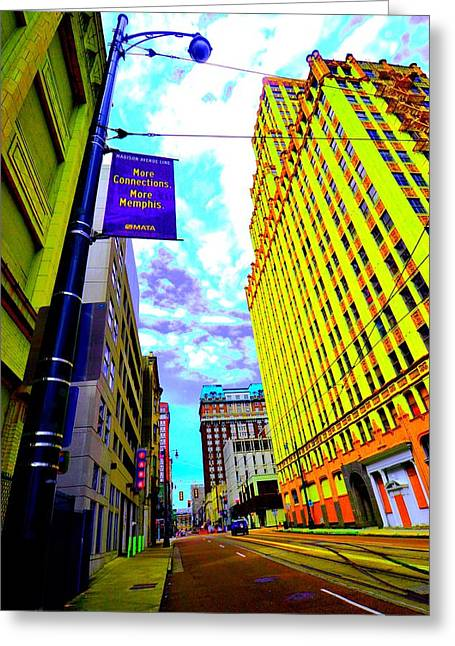 More Memphis On Monroe Greeting Card