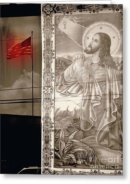 More Prayers For The Nation Greeting Card by Joe Jake Pratt
