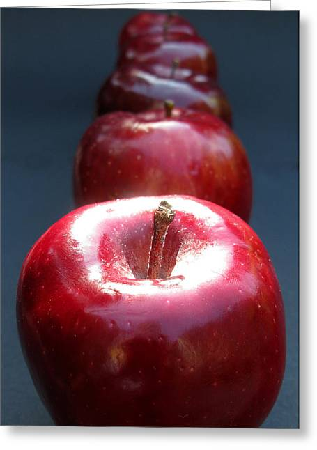 Greeting Card featuring the photograph More Red Apples by Helene U Taylor