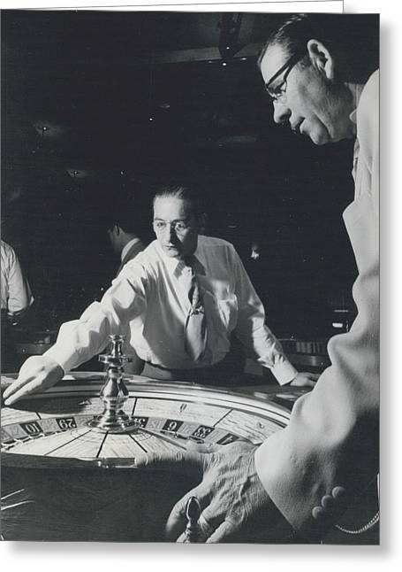 More Roulette Whereas Spin In Las Vegas Than In Monte Carlo Greeting Card by Retro Images Archive