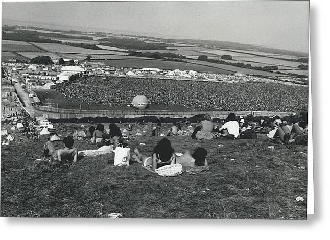 More Than 100,000 Fans Attend The Isle Of Wight Pop Greeting Card by Retro Images Archive