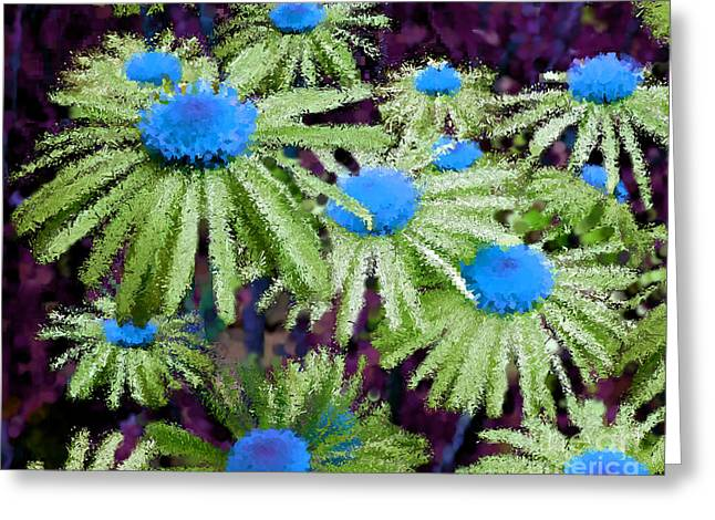 More Than Miles Purple Green Blue Greeting Card by Holley Jacobs