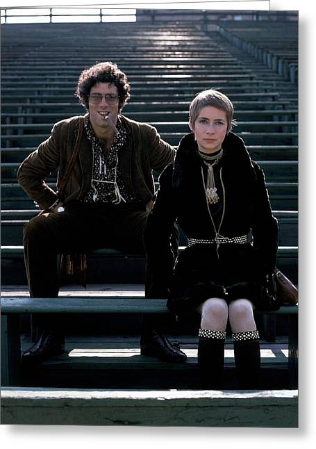 Moreen Mcgill And Elliot Gould Greeting Card by William Connors