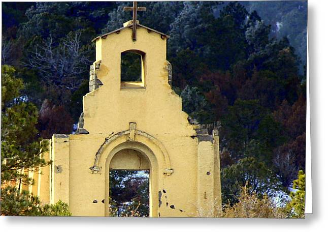 Greeting Card featuring the photograph Mountain Mission Church by Barbara Chichester