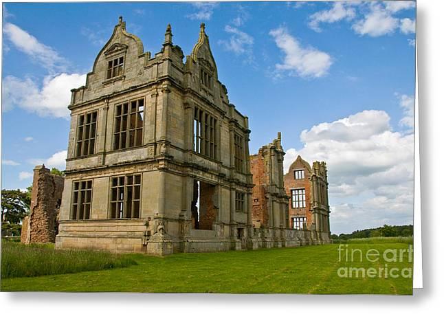 Moreton Corbet Castle 2 Greeting Card by Sheila Laurens