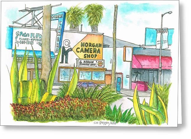 Morgan Camera Shop - Hollywood - California Greeting Card