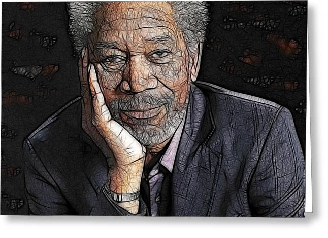 Morgan Freeman  Greeting Card