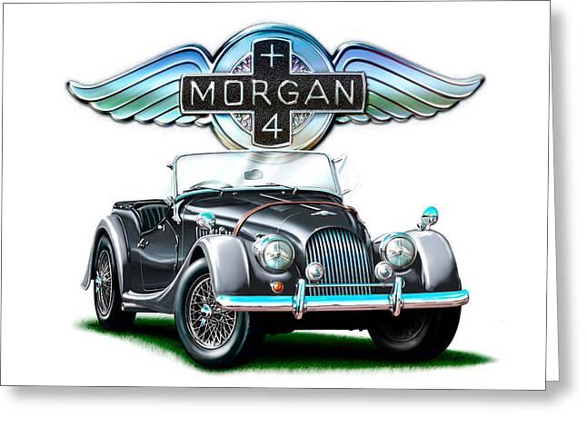 Morgan Plus 4 Blkgray Greeting Card by David Kyte
