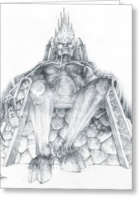 Morgoth Bauglir Greeting Card