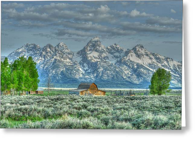 Mormon Barn Spring Greeting Card