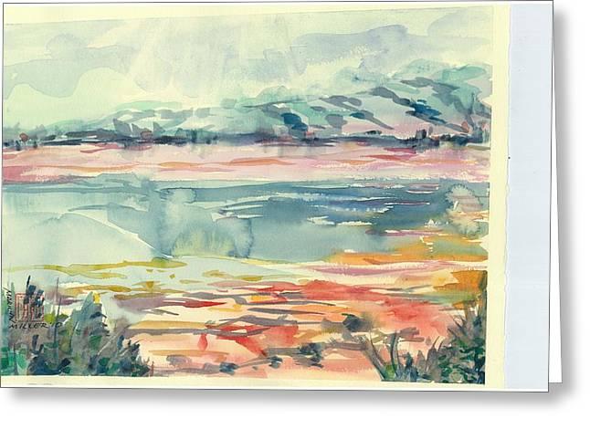 Mormon Lake Greeting Card by Marilyn Miller