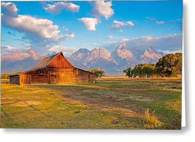 Mormon Row And The Grand Teton Greeting Card