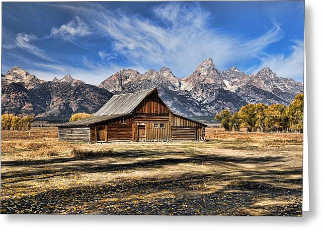 Greeting Card featuring the photograph Mormon Row Barn by David Armstrong