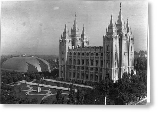 Mormon Temple, C1900 Greeting Card