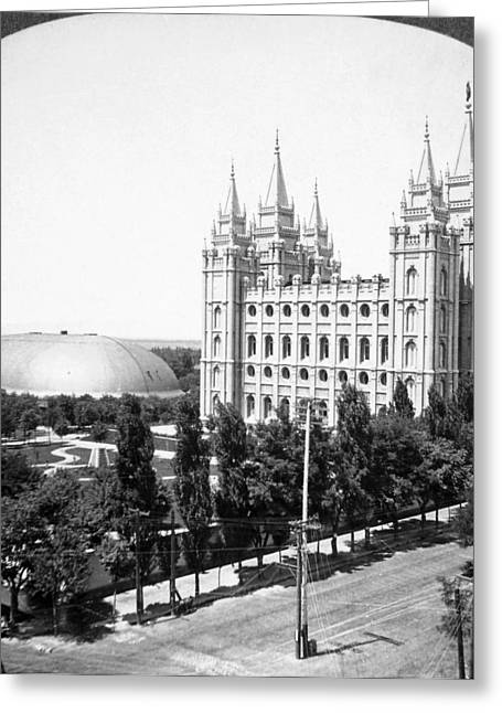Mormon Temple, C1910-1920 Greeting Card