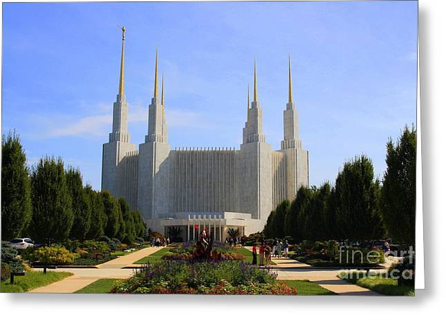 Mormon Temple Dc Greeting Card