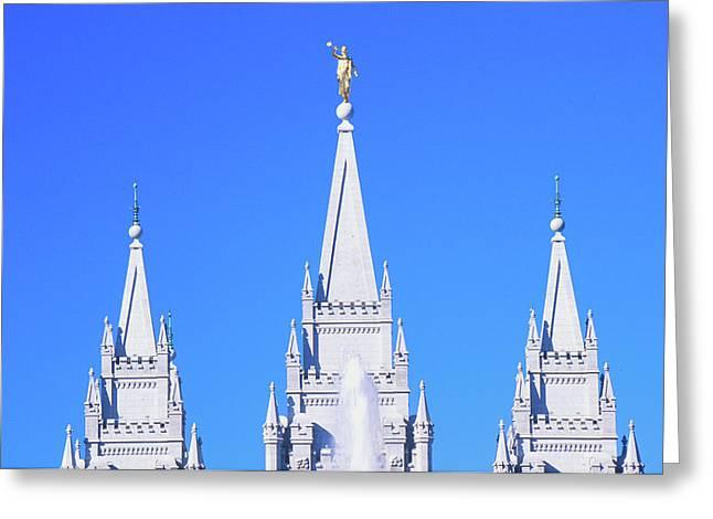 Mormon Temple In Salt Lake City Utah Greeting Card