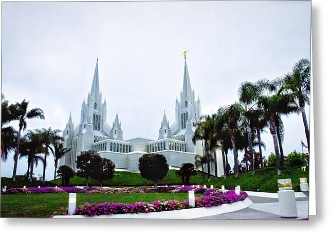 Mormon Temple La Jolla Greeting Card