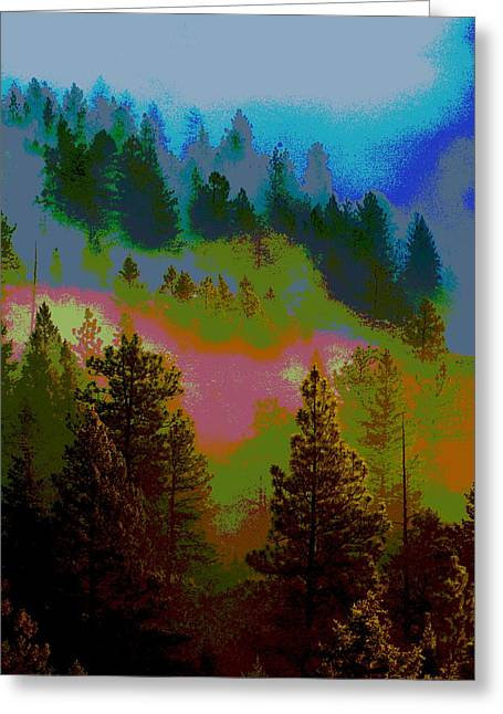 Morning Arrives In The Pacific Northwest Greeting Card