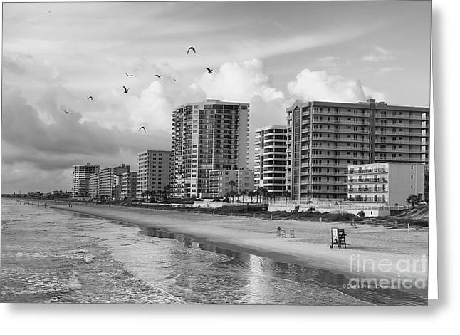 Morning At Daytona Beach Greeting Card by Deborah Benoit