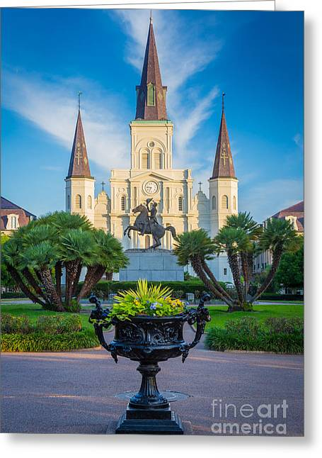 Morning At Jackson Square Greeting Card