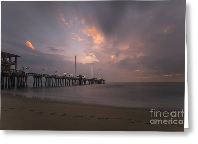 Morning At Jennette Pier Greeting Card