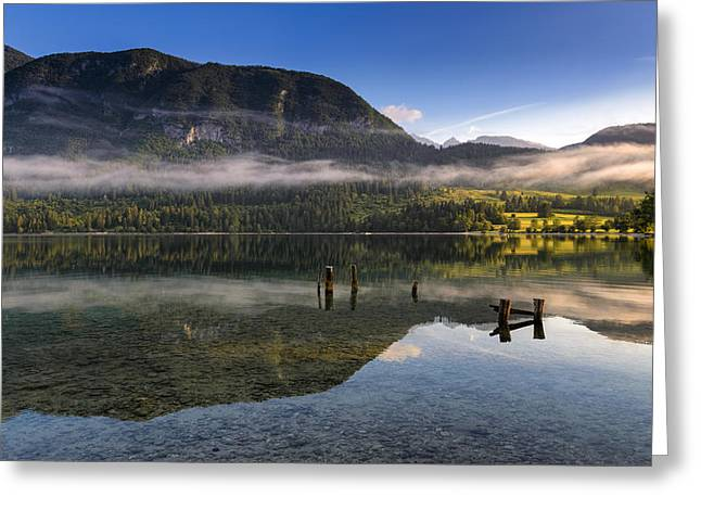 Morning At Lake Bohinj Greeting Card