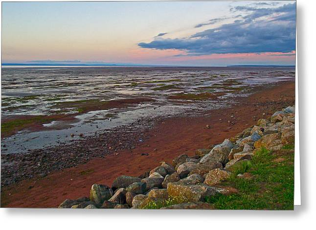 Morning At Minas Basin In Fundy Bay Near Grand Pre-ns Greeting Card by Ruth Hager