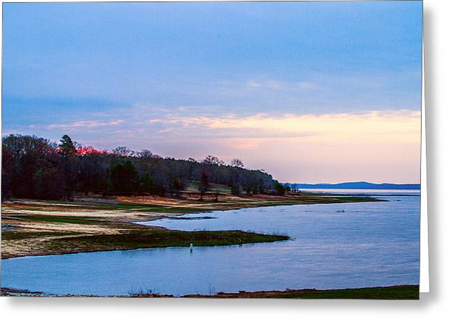 Morning At The Lake - Landscape Greeting Card by Barry Jones