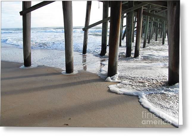Morning At The Pier Greeting Card by Michele Napier-Berg