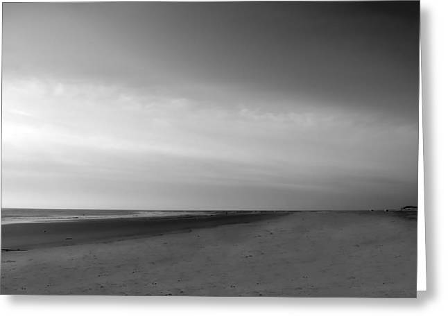 Greeting Card featuring the photograph Morning At Tybee Island by Frank Bright