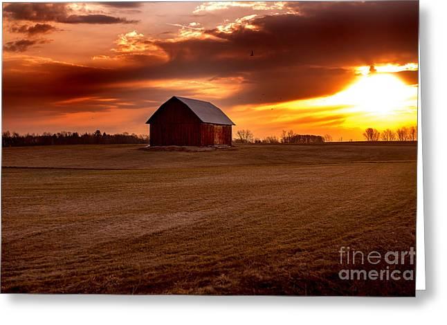 Morning Barn Greeting Card
