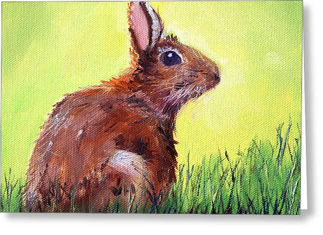 Morning Bunny Greeting Card
