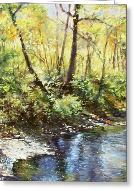Morning By The River Greeting Card