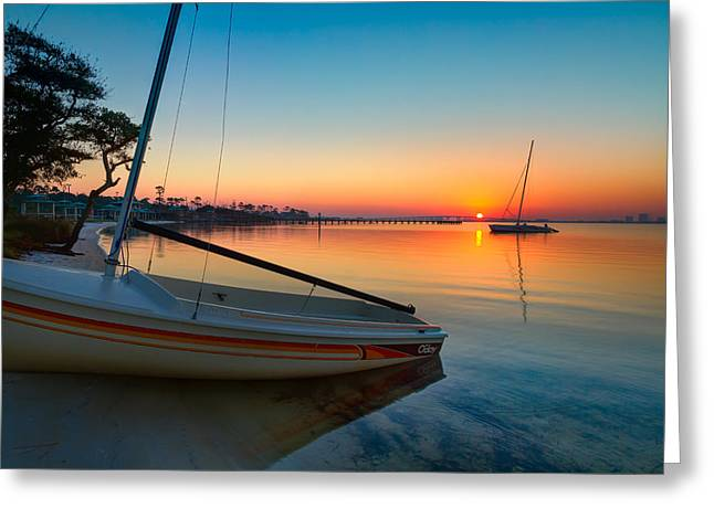 Greeting Card featuring the photograph Morning Calm by Tim Stanley