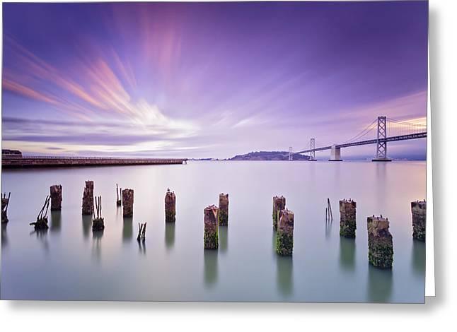 Morning Calmness - San Francisco Bay Greeting Card