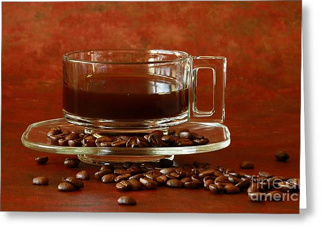 Morning Coffee Greeting Card by Inspired Nature Photography Fine Art Photography