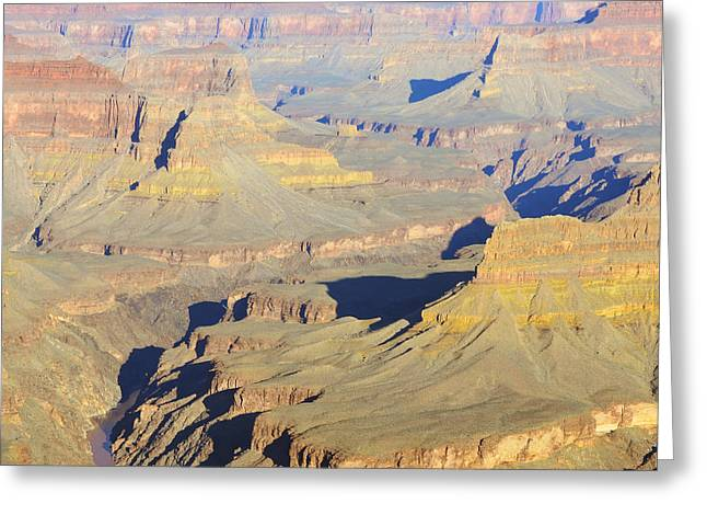 Morning Color On Cliffs And Colorado River In Grand Canyon National Park Greeting Card by Shawn O'Brien