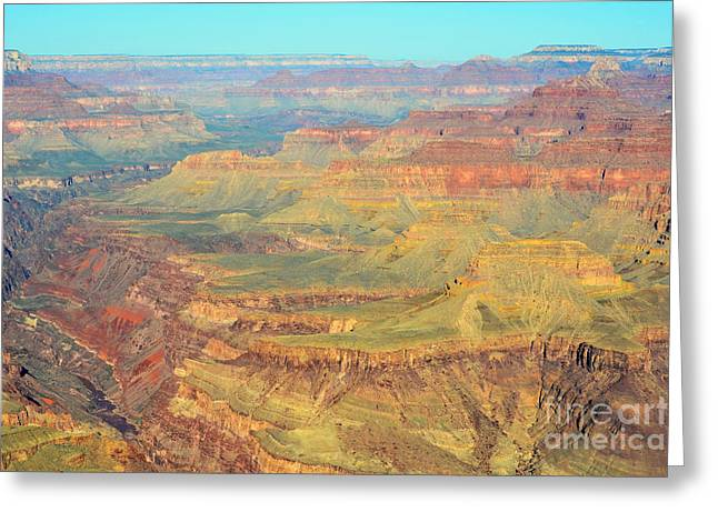 Morning Colors Of The Grand Canyon Inner Gorge Greeting Card by Shawn O'Brien