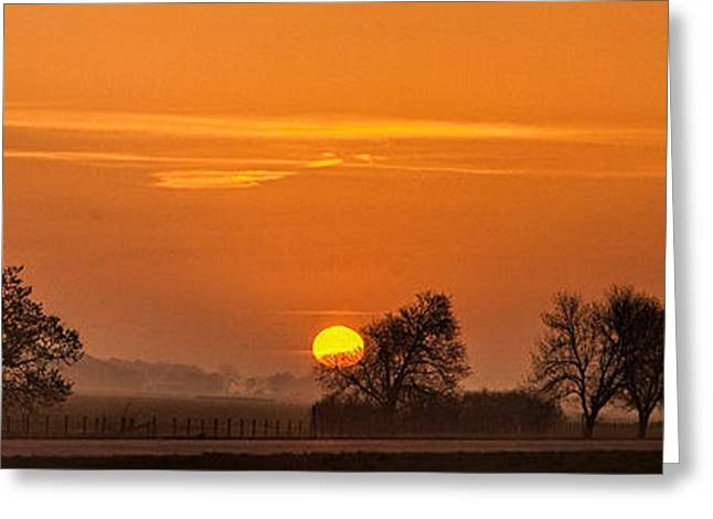 Morning Drive Greeting Card by Andrew Soundarajan