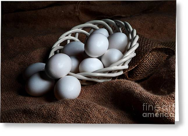 Morning Eggs Greeting Card