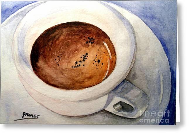 Morning Espresso Greeting Card by Carol Grimes