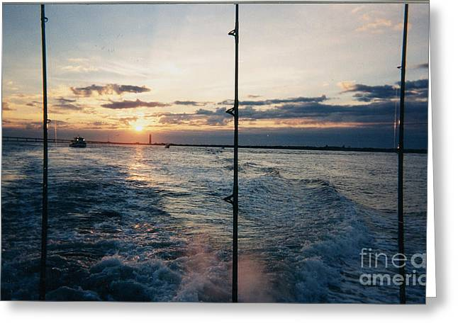 Greeting Card featuring the photograph Morning Fishing by John Telfer