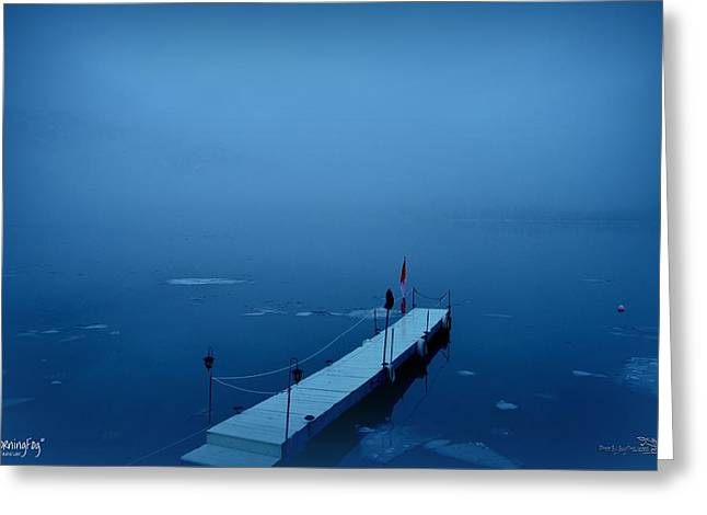 Morning Fog 001 - Skaha Lake 03-06-2014 Greeting Card